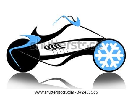 Extreme speed motorcycle - stock photo
