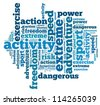 Extreme sport info-text graphics and arrangement concept on white background (word cloud) - stock photo