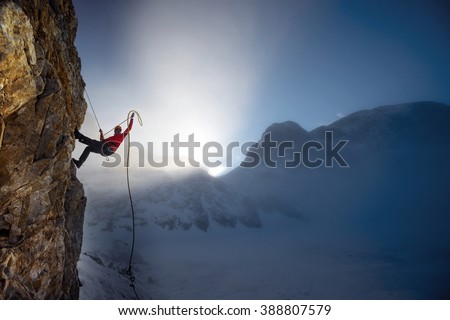 extreme winter climbing
