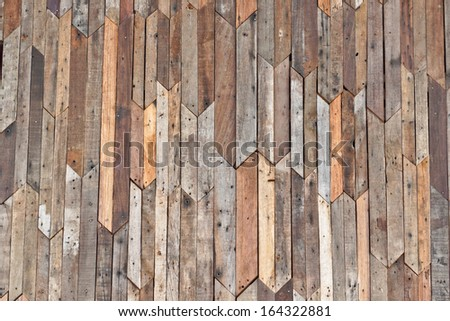 extremely large wood plank wall texture - stock photo
