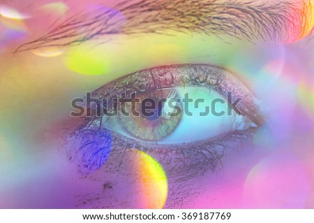 eye and colors - stock photo