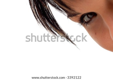 eye and hair #5 - stock photo
