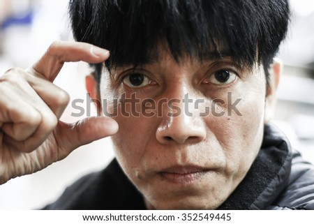 Eye Asia The man in black Sign language.in.-Thailand