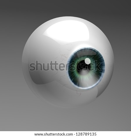 Eye ball 3D - stock photo
