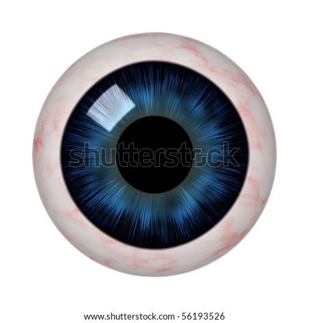 eye ball isolated over white - stock photo