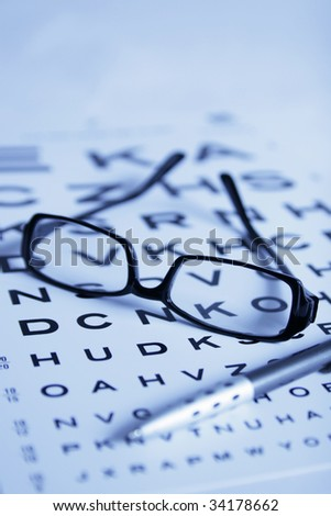 eye-chart test - stock photo