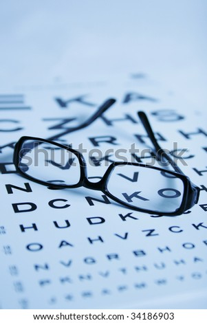eye-chart test - stock photo