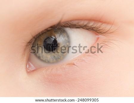 eye. close-up - stock photo