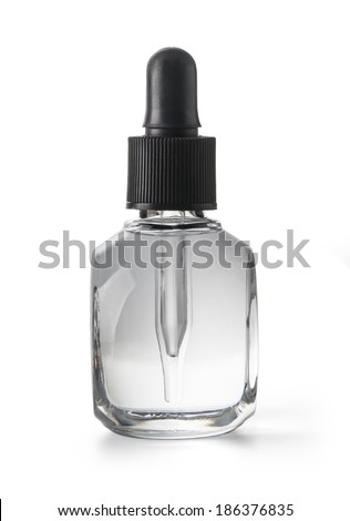Eye Dropper Bottle Isolated with clipping path on a white background - stock photo