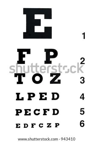 eye exam chart - stock photo