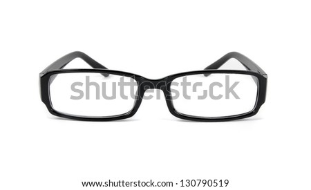 eye glasses closeup  over white