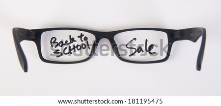 eye glasses. eye glasses with concept on background - stock photo