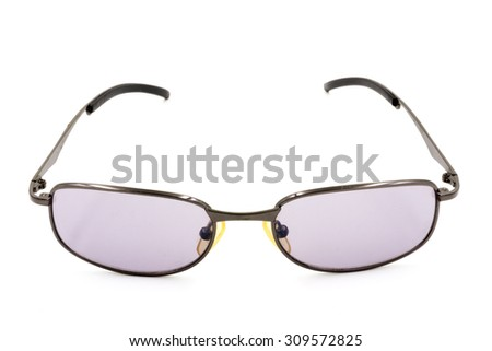 Eye glasses isolated on white background.