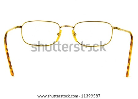 eye glasses on a white background