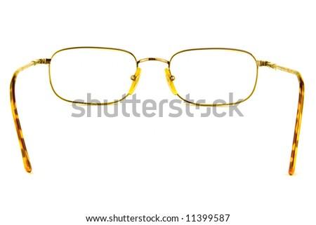 eye glasses on a white background - stock photo