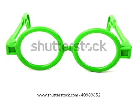 Eye healthcare - human eyesight glasses isolated - stock photo