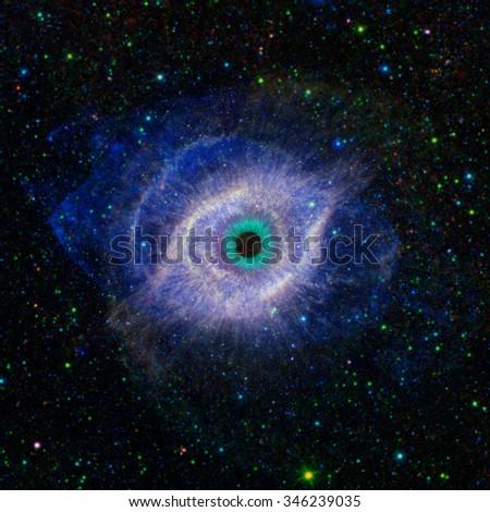 Eye in space - stock photo