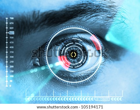 eye interface - stock photo
