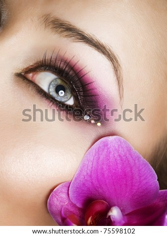Eye Make-up - stock photo