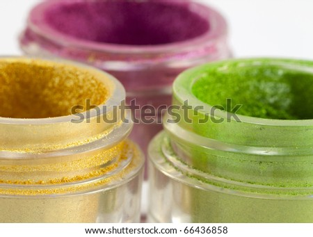 Eye make-up cosmetics. - stock photo