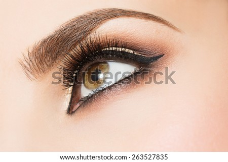 Eye Makeup close up