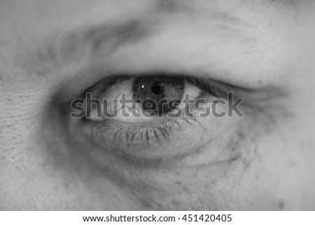 Eye of an adult woman
