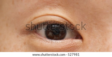 Eye of asian lady - stock photo