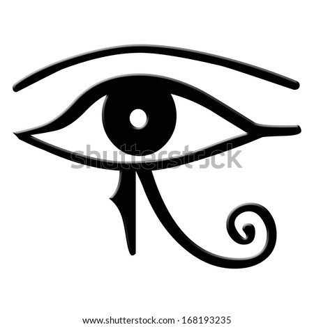 Eye of Horus - The Eye of Horus is an ancient Egyptian symbol of protection, royal power and good health. The eye is personified in the goddess Wadjet. It is also known as The Eye of Ra - stock photo