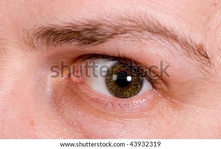 Eye of the man - stock photo