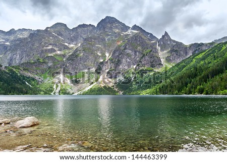 Eye of the Sea -  lake in the Tatra Mountains, Poland