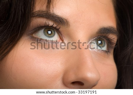 eye of the young beautiful woman - stock photo