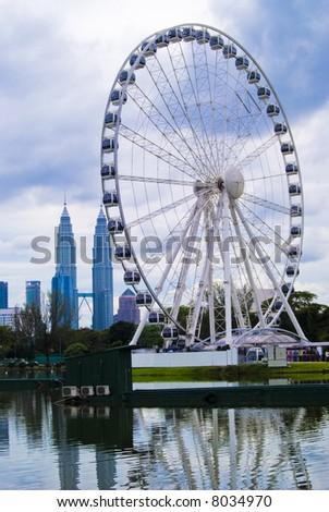Eye On Malaysia at  Lake Titiwangsa, Kuala Lumpur, Malaysia - stock photo