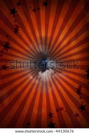 Eye revealed in pattern - stock photo