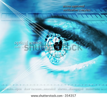 eye scan technology - stock photo