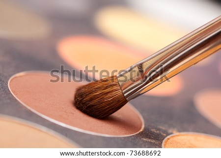 eye shadow macro shot - stock photo