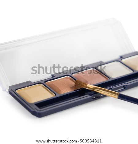 Eye shadow palette isolated
