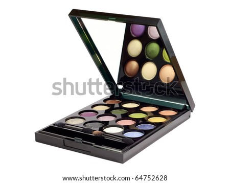 Eye shadows set. Isolated on white background with clipping path. - stock photo