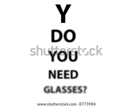 eye sight text exam message - stock photo