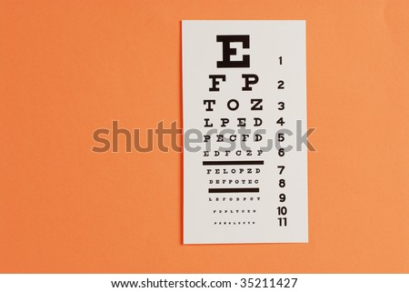eye testing and eye exam chart - stock photo