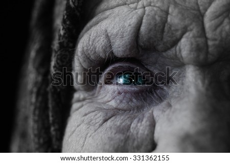 Eye Witches. close-up. - stock photo