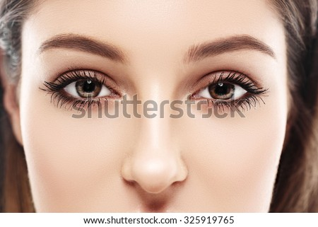 Eye woman eyebrow eyes lashes  - stock photo