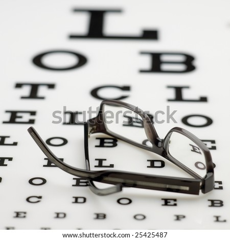 Eyechart with spectacles
