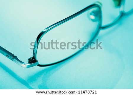 Eyeglasses detail. Clear vision concept