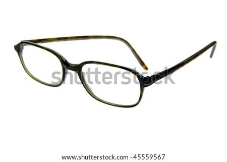 Eyeglasses isolated on a white background. - stock photo