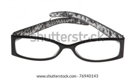 eyeglasses isolated on a white background - stock photo
