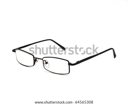 eyeglasses isolated on the white backogrund - stock photo