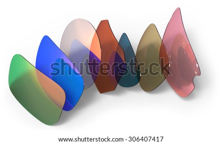 Eyeglasses lenses isolated on white