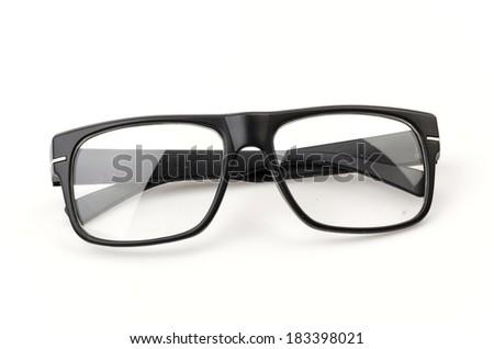 eyeglassses isolated white background - stock photo