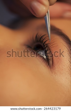 Eyelashes beauty - stock photo