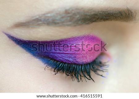 Eyes make up  - stock photo